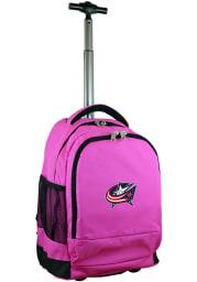Columbus Blue Jackets Pink Wheeled Premium Backpack
