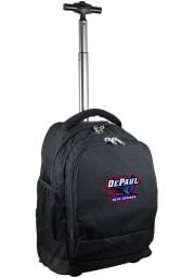 DePaul Blue Demons Black Wheeled Premium Backpack