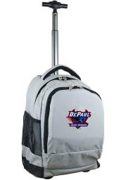 DePaul Blue Demons Grey Wheeled Premium Backpack