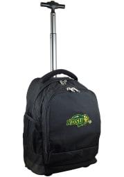 North Dakota State Bison Black Wheeled Premium Backpack