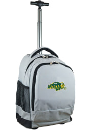 North Dakota State Bison Grey Wheeled Premium Backpack