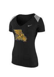 Nike Missouri Western Griffons Womens Black Stadium Football V-Neck T-Shirt