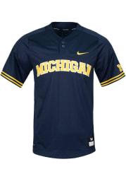 Nike Michigan Wolverines Mens Navy Blue Replica Jersey