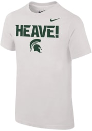 Nike Michigan State Spartans Youth White Football Mantra Short Sleeve T-Shirt