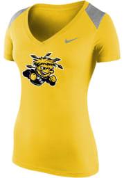 Nike Wichita State Shockers Womens Gold Stadium Short Sleeve T-Shirt