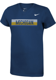 Nike Michigan Wolverines Girls Navy Blue Legend Short Sleeve T-Shirt