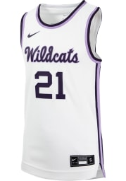 Nike K-State Wildcats Youth Replica White Basketball Jersey