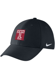 Nike Temple Owls Mens Black Swoosh Flex Hat