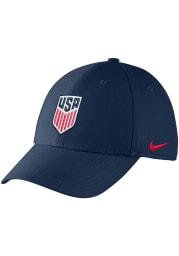Nike Team USA Mens Navy Blue Crest Swooshflex Flex Hat