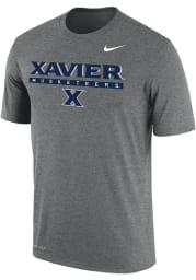 Nike Xavier Musketeers Grey Dri-FIT Flat Name Mascot Short Sleeve T Shirt
