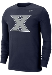 Nike Xavier Musketeers Navy Blue Dri-FIT Big Logo Long Sleeve T Shirt
