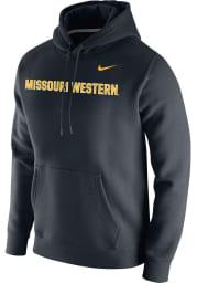 Nike Missouri Western Griffons Mens Black Club Fleece Wordmark Long Sleeve Hoodie