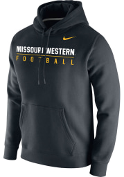 Nike Missouri Western Griffons Mens Black Club Fleece Football Long Sleeve Hoodie