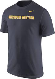 Nike Missouri Western Griffons Grey Core Wordmark Short Sleeve T Shirt