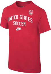 Nike Team USA Youth Red Arch Short Sleeve T-Shirt