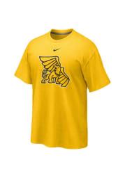Nike Missouri Western Griffons Gold Cotton Motivation Short Sleeve T Shirt