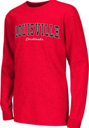 Colosseum Louisville Cardinals Youth Red Rally Loud Long Sleeve T-Shirt