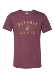 Detroit City FC Maroon Est 2012 Short Sleeve Fashion T Shirt