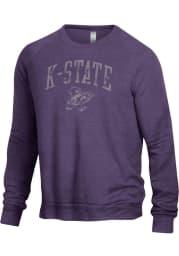 Alternative Apparel K-State Wildcats Mens Purple The Champ Long Sleeve Fashion Sweatshirt