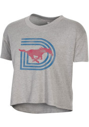 Alternative Apparel SMU Mustangs Womens Grey Headliner Short Sleeve T-Shirt