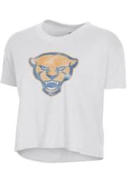 Alternative Apparel Pitt Panthers Womens White Headliner Short Sleeve T-Shirt