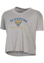 Alternative Apparel Pitt Panthers Womens Grey Headliner Short Sleeve T-Shirt