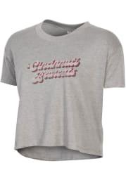 Alternative Apparel Cincinnati Bearcats Womens Grey Headliner Short Sleeve T-Shirt