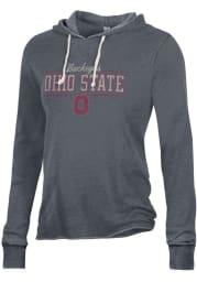 Alternative Apparel Ohio State Buckeyes Womens Black Day Off Hooded Sweatshirt