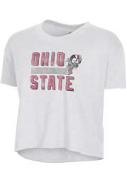 Alternative Apparel Ohio State Buckeyes Womens White Headliner Crop Short Sleeve T-Shirt