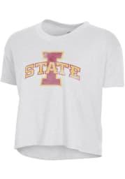 Alternative Apparel Iowa State Cyclones Womens White Headliner Short Sleeve T-Shirt