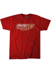 BreakingT Kansas City Chiefs Red Comeback City Short Sleeve Fashion T Shirt