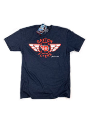 GV Art + Design Dayton Flyers Navy Blue Flyer Short Sleeve Fashion T Shirt
