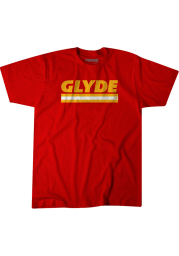 Clyde Edwards-Helaire Kansas City Chiefs Red Glyde Short Sleeve Fashion Player T Shirt