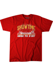 Patrick Mahomes Kansas City Chiefs Red Here To Stay Short Sleeve Fashion Player T Shirt