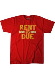 Tyrann Mathieu Kansas City Chiefs Red Rent Is Due Short Sleeve Fashion Player T Shirt