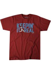 JT Realmuto Philadelphia Phillies Maroon Keepin It Real Short Sleeve Fashion Player T Shirt
