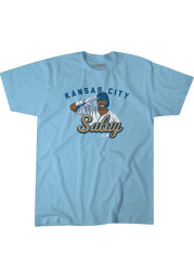 Salvador Perez Kansas City Royals Light Blue Salvy Salute Short Sleeve Fashion Player T Shirt