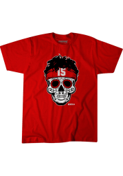 Patrick Mahomes Kansas City Chiefs Red Mahomes Sugar Skull Short Sleeve Fashion Player T Shirt