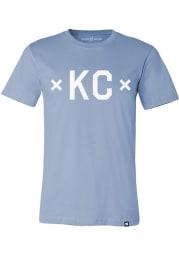Made Mobb Kansas City Light Blue screen print graphic Short Sleeve T Shirt
