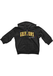 Colosseum Missouri Western Griffons Baby Rally Loud Long Sleeve Full Zip Sweatshirt - Black