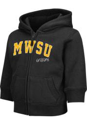 Colosseum Missouri Western Griffons Toddler Arch Long Sleeve Full Zip Sweatshirt - Black