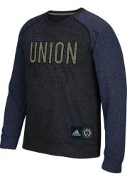 Adidas Philadelphia Union Grey Breathe Easy Long Sleeve T Shirt