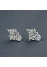 Missouri Western Griffons Silver Post Womens Earrings