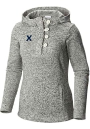 Columbia Xavier Musketeers Womens White Darling Days Hooded Sweatshirt