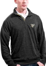 Levelwear Pittsburgh Penguins Mens Black Hudson Long Sleeve 1/4 Zip Pullover