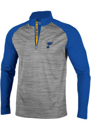Levelwear St Louis Blues Mens Grey Vandal Long Sleeve 1/4 Zip Pullover