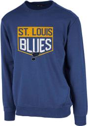 Levelwear St Louis Blues Mens Blue Zane Team Shield Long Sleeve Sweatshirt