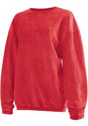Kansas City Womens Red Long Sleeve Corded Crew Sweatshirt