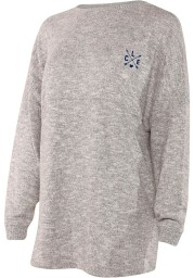 Cleveland Womens Grey Cozy Fleece Long Sleeve T Shirt