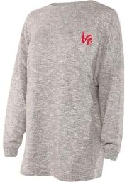 Philadelphia Womens Grey Cozy Long Sleeve T Shirt